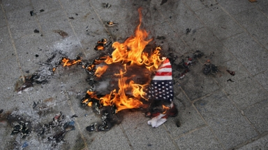 Demonstration Held Outside US Embassy Against Qur'an Burning Threats
